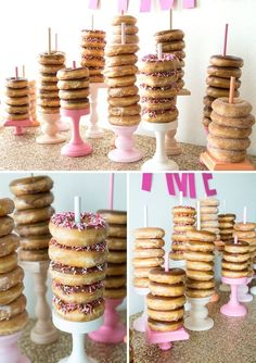 HAVE To See This Adorable DIY Wedding Donut Bar! You have to see this DIY wedding donut bar! How adorable would this be at a Bridal Shower?You have to see this DIY wedding donut bar! How adorable would this be at a Bridal Shower? Donut Birthday Parties, Donut Party, Birthday Brunch, Birthday Breakfast, Diy Donut Bar, Birthday Ideas, 19th Birthday, Diy Birthday, Donut Bar Wedding