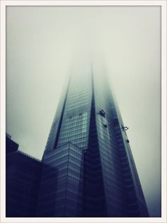 The Shard, London, in the fog.