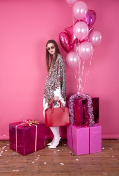 art direction   pink monochromatic holiday party - fashion photography
