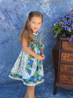 Hey, I found this really awesome Etsy listing at http://www.etsy.com/listing/130698720/childrens-girls-dress-blue-blossoms-2t
