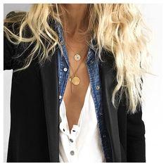 Haut✔veste #thekooples (old) chemise #ekyog (old) tee #zadigetvoltaire (old) colliers #maisonirem sur @maisonirem #ootd