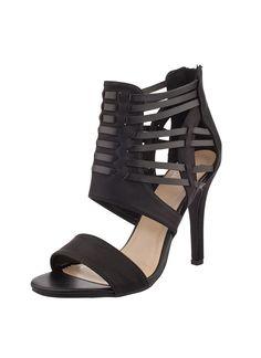 Shop Prima Donna - Timor Cutout Cage Sandals Black at Prima donna