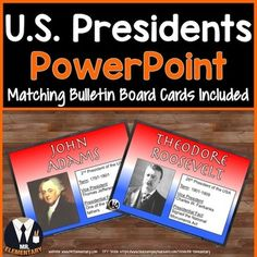 U.S. Presidents PowerPoint and Bulletin Board Posters! This is a FUN, EFFECTIVE way to teach the presidents to your class.