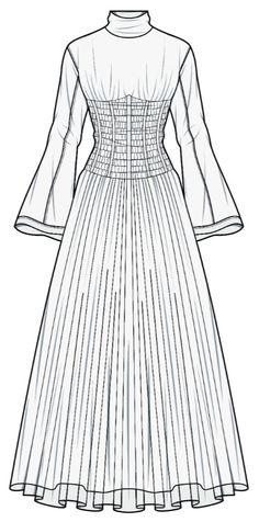 Fashion Design Sketchbook, Fashion Design Drawings, Fashion Sketches, Fashion Drawing Dresses, Fashion Illustration Dresses, Fashion Figures, Fashion Models, Fashion Outfits, Croquis Fashion