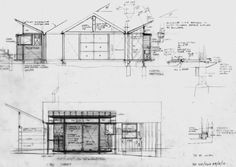 Guest Studio by Glenn Murcutt — Atlas of Places Light Architecture, Classical Architecture, Rustic Modern Cabin, Small Shower Room, Farm Shed, Contemporary Barn, Old Abandoned Houses, Interior Design Sketches, Roof Trusses