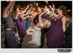 Sparkler dip kiss photo / Omni Grove Park Inn Wedding / Luxury Wedding / Mountain Wedding/ Asheville Wedding / Photo by: Mozingo Photography / Planning by Verge Events