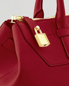 Tom Ford Petra Leather Tote in Red | Lyst