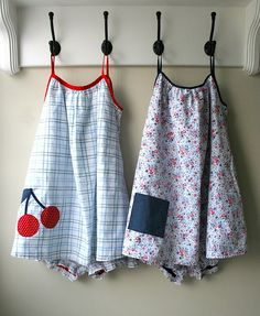 summer jammies from thrifted sheets and Simplicity 5006 (vintage) by mmmcrafts, via Flickr