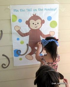 Pin the tail on the monkey game