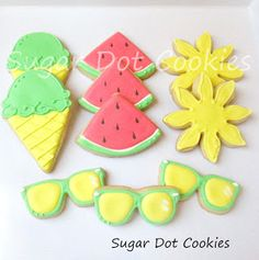 Sugar Dot Cookies: Summer Fun Sugar Cookies with Royal Icing