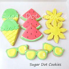 Sugar Dot Cookies: Summer Fun Sugar Cookies with Royal Icing
