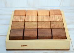 Wooden building blocks Wood blocks Wooden game by DimoklWoodenToys