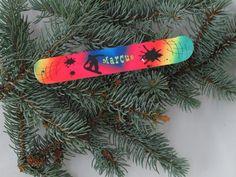 Personalized snowboard Christmas Ornaments by ThePhotoHog on Etsy