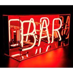Neon Bar Sign Acrylic Box Light - Red