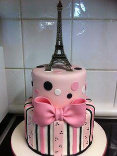 Paris Eiffel Tower Cake - Cake by Mardie Makes Cakes