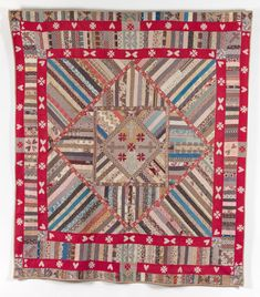 Hearts and Crosses quilt,1875 - 1900