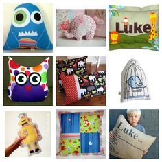 Love, love, LOVE these pillows for Bubby! The monster is especially cute!