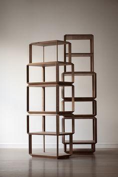 Modular Interlocking Bookcases