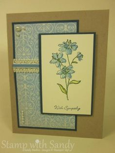 Simply Soft Sympathy by stampwithsandy - Cards and Paper Crafts at Splitcoaststampers