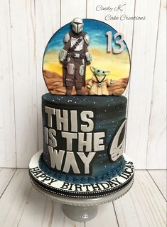 Star Wars Birthday Cake, Star Wars Cake, Star Wars Party, 10th Birthday Parties, Birthday Ideas, Yoda Cake, Cake Designs Images, Disney Cakes, Get The Party Started