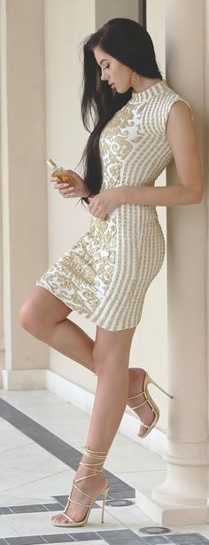 Little Embellished Dress Fall Inspo by Laura Badura #Fashion | Repinned by| Fashionista-Princess-Jewelry.com