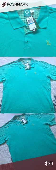 LRG Men's polo shirt size XL Brand new with tags size XL. Teal green color. Perfect brand new condition, no stains or flaws. NO TRADES Lrg Shirts Polos