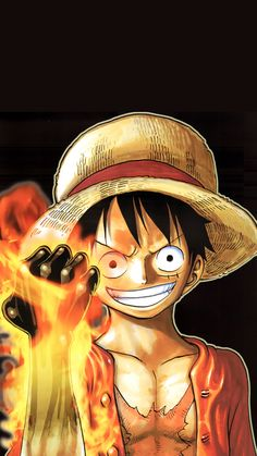 luffy on fire One Piece Anime, Ace One Piece, One Piece Luffy, Anime Disney, Anime Echii, Anime Guys, One Piece Pictures, One Piece Images, Cool Anime Wallpapers