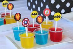 Superhero Themed Birthday Party via Kara's Party Ideas KarasPartyIdeas.com Cake, decor, favors, printables, tutorials, and more! #supehero #superheroparty #supeheropartyideas (6)