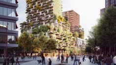Hawthorn Tower, Utrecht, Netherlands by Stefano Boeri Architetti Vertical Forest, Plant Covers, Tower Garden, Green Architecture, Utrecht, Netherlands, Dolores Park, Eco Friendly, Street View