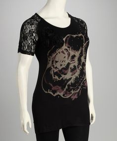 Take a look at this Black Rose Plus-Size Tunic by Lily on #zulily today!