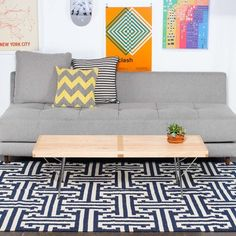 I-Beam Dhurrie 245x152 Navy, 275€, now featured on Fab.