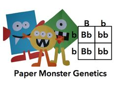 So much fun! If you teach genetics, you MUST get this project. Students study genetics through the creation of a paper monster family! Cover common core standards too: 7th Grade Science, Science Biology, Teaching Biology, Middle School Science, Science Lessons, Science Education, Science Activities, Life Science, High School Biology