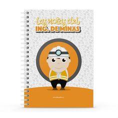 Cuaderno XL - Las notas del ingeniero de minas, encuentra este producto en nuestra tienda online y personalízalo con un nombre. Notebook, Cover, Engineer, Greeting Card, Report Cards, Day Planners, Cards, The Notebook, Exercise Book