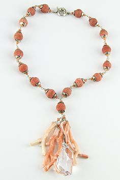 coral jewelry from italy | Natural Italian Coral and Sponge Coral Necklace