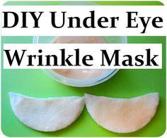 DIY Natural Anti-Wrinkle Eye Mask for Sensitive Eyes and Under Eye Circles - w/ Most Effective Anti-Aging Ingredients: Retinoid Glycolic Acid and Vitamin C. Homemade Recipe.