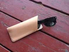 Leather Glasses Case/Pouch. Manmade in Colorado. by MotorStreet