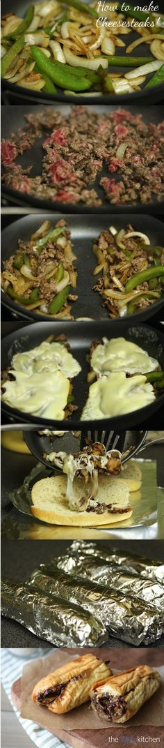 How make the BEST Cheesesteaks ever! wrapping them in foil and putting them in the oven is the trick!