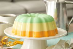 Creamy Triple-Citrus Gelatin Dessert