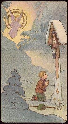 Angel & Child at Wayside Shrine.