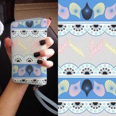 Estampa da Coleção Floral Concept para case de smartphones. Por Estúdio Lab.ART