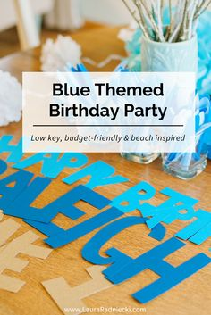 This blue themed birthday party is the perfect mix of budget-friendly and beautiful. Don't miss this classic, beach inspired first birthday party theme based around the color blue!