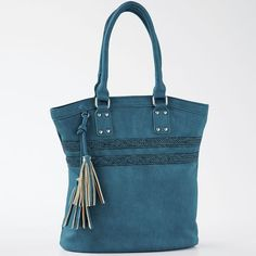 Tote with Braid & Tassel from Monroe and Main. The look of handcrafted braid and tassel craftsmanship.