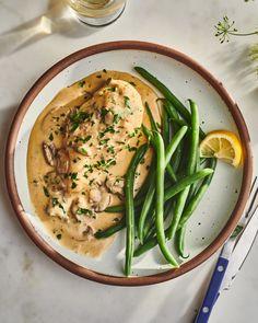The Julia Child Chicken Recipe That Never Lets Me Down   Kitchn Dinner Entrees, Dinner Recipes, Dinner Ideas, Fluffy Mashed Potatoes, Mushroom Cream Sauces, How To Cook Chicken, Chicken Bog, Creamy Chicken, Sans Gluten