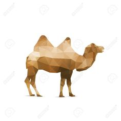 Illustration Of Abstract Origami Camel Isolated On White Background Royalty Free Cliparts, Vectors, And Stock Illustration. Image 32773286.