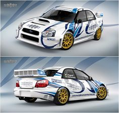 Design for Enda McCormack and his new car for 2016 season - ex works Subaru Impreza S10 WRC