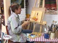 Un ejercicio sencillo para mostrar que fàcil que es recrear un vidrio con acrìlico y unos pinceles.Un clase de la profesora Gabriela Galano para ejercitar y comenzar a pintar cuadros vos mismo.
