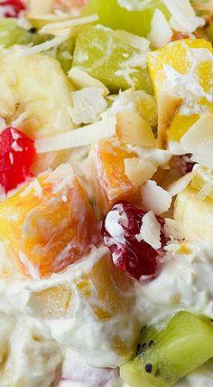 Tropical Cheesecake Fruit Salad
