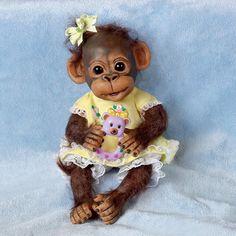 Ashton Drake Handfuls of Fun Play Day with Daisy Monkey Doll Simian Orangutan | eBay