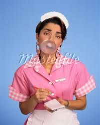 american diner waitress outfit - Google Search