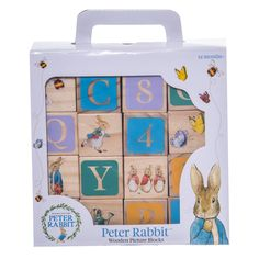 If your child loves Peter Rabbit toys they will love thesePeter Rabbit Wooden Picture Blocks